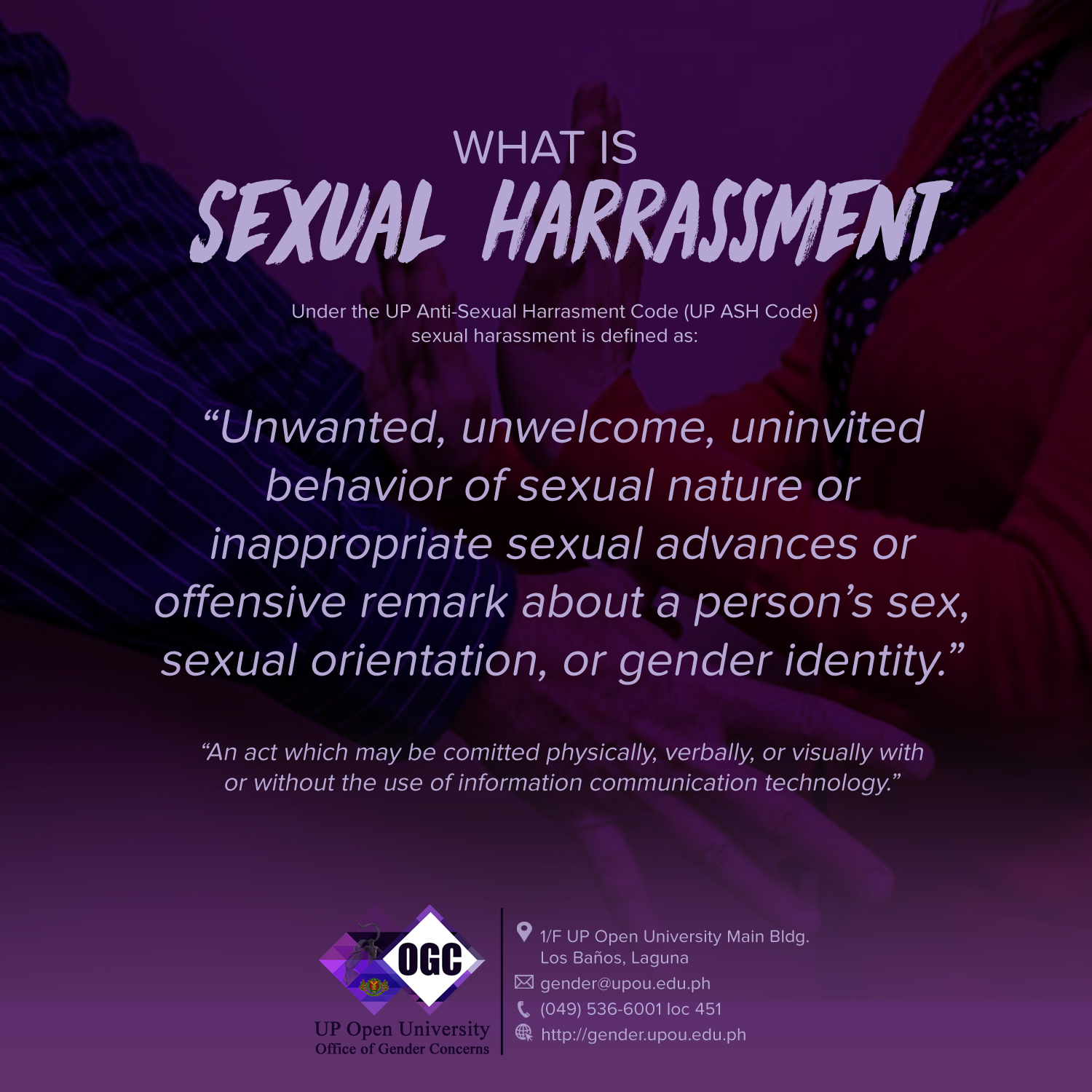 Harassment information sexual are certainly